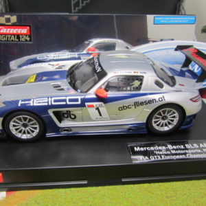 Carrera D124 Mercedes Benz SLS AMG GT3 Heico Motorsports 23791 lightly used