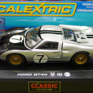 Scalextric C2917 Silver Ford GT40