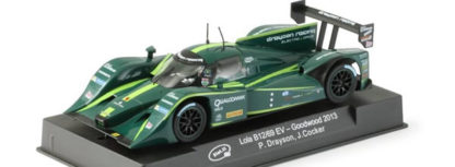 Slot.It Lola B12/69EV Goodwood Festival of Speed 2013. This Lola B12/69EV CA22E 1/32 Scale model slot car buy Slot.It offers fantastic slot car track performance. Comes as Offset Anglewinder with Flat 6 20.5k with 200gcm of torque at 12V motor and strong magnet. It's a must have model slot car to collect or race, presented in a clear crystal collection display case. Slot.It Lola B12/69EV model slot cars have been developed buy Maurizio Ferrari in Italy which are manufactured to supreme precision and renown for being one of the best slot cars on the market. Slot.It straight from the box slot cars are already capable of giving superb track action, but with Slot.it's huge range of upgrades, which are compatible with Fly-Slot, Scalextric, Ninco etc, you can easily fine tune each car to gain even more advantage over the competition. They have also been given permission by Scalextric to manufacture the SSD chip to allow Slot.it cars to run on Scalextric Digital tracks. All in all the racers choice! All the upgrades and spares are available in the upgrade section. Slot.It Porsche 956 LH 1/32 slot cars are compatible with all other 1/32 manufacturers Analogue slot car track systems as well as their Digital tracks where limitations permit such as Scalextric, Ninco, SCX and Carrera much like Spirit, Cartrix, Avant Slot, Revell, FlySlot, SRC, Slotwings, Policar and Racer slot cars are, enabling you to enjoy all of the Slot Cars that you want and I / we enjoy on one slot car track system of your choice. Slot.It SI-CA22E Lola B12/69EV Goodwood Festival of Speed 2013. Slot.It SICA22E.