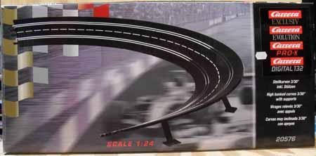 Carrera Exclusiv 20576 radius 3 high bank curve