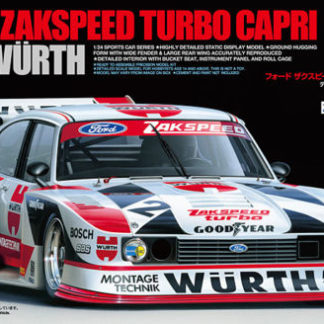Tamiya 24329 1/24 Scale Car Model Kit Ford Zakspeed Turbo Capri Wurth