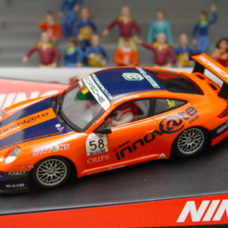 NINCO 50496 SLOT CAR PORSCHE 997 #58 INNOVATE J.SUTTON