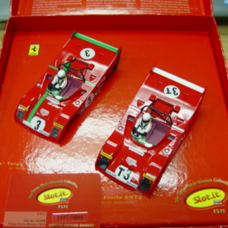 SLOT.IT KW01 Ferrari 312PB 1972 Targa Florio winners SET