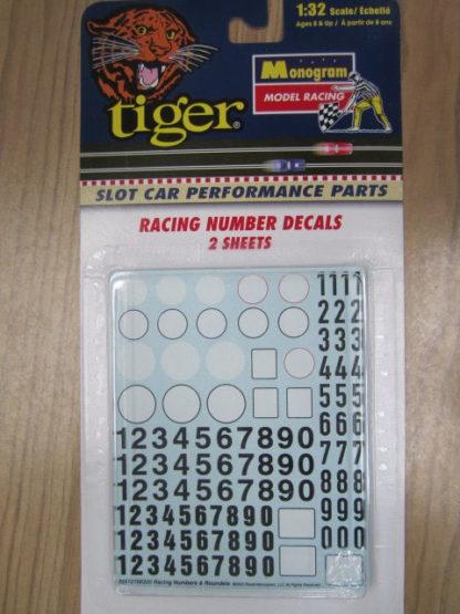 Monogram 85-5121 Racing Number Decals 2 sheets