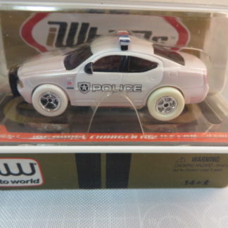 AutoWorld iWheels White Lightning Dodge Charger Police