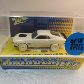 AutoWorld iWheels White Lightning Thunderjet 1970 Ford Mustang