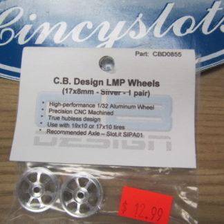 CB Design 17X8 LMP Front Wheels Silver