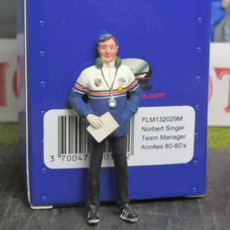 Le Mans Miniatures Figure FLM132029 Norbert Singer Team Manager Rothman's