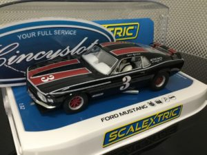 Scalextric C4014 Ford Mustang Trans Am 1972 John Gimbel 1/32 Slot Car.