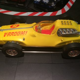 MATTEL 1963 V-RROOM! YELLOW WHIP RACER. MH