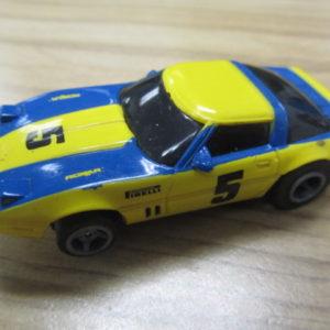 "Life Like Nascar Blue Yellow Corvette #5 USED Tray ""D"""