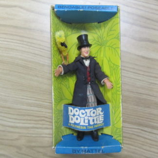 "1967 Mattel Toy 6"" DR. DOLITTLE Doolittle & Polynesia The Parrot Box 4"