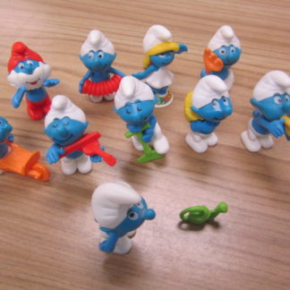 Vintage Smurf Kinder Surprise Egg Toy figures topper musical violin accordion and more. BOX 4