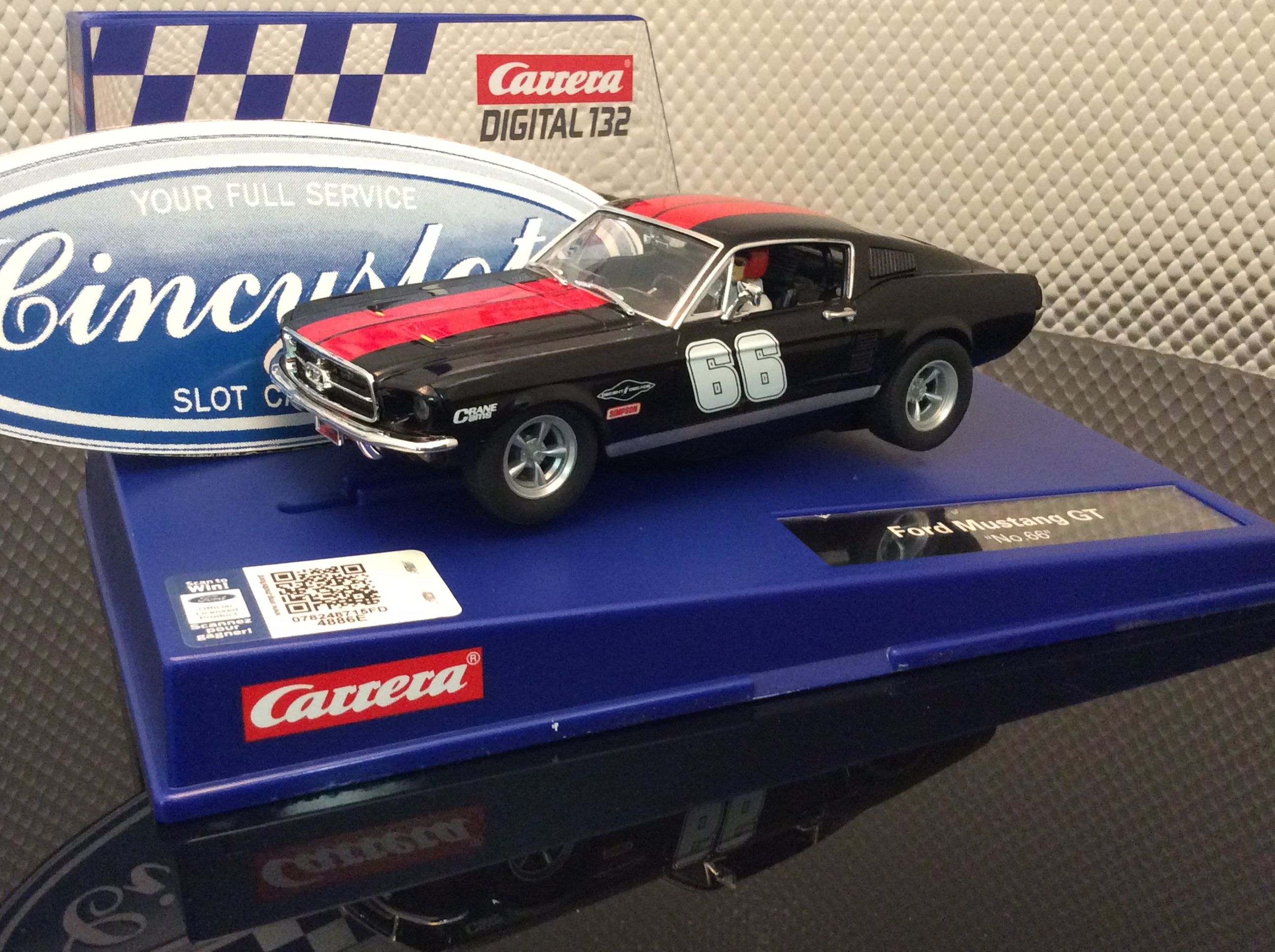 carrera d132 30792 ford mustang gt 66 slot car. Black Bedroom Furniture Sets. Home Design Ideas
