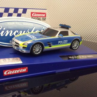 Carrera D132 30793 Mercedes-SLS AMG Polizei Slot Car