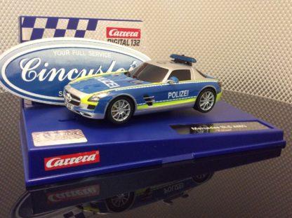 Carrera D132 30793 Mercedes-SLS AMG Polizei Slot Car
