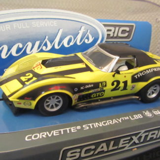 Scalextric C3726 Corvette Stingray L88 American Road Racing 1973 Slot Car