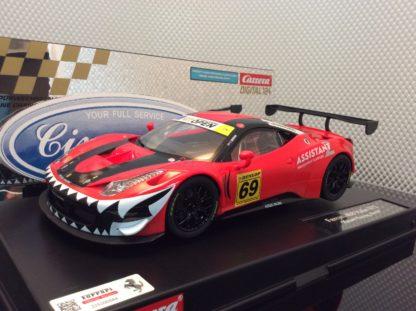 Carrera D124 23838 Ferrari 458 Italia GT3 Kessel Racing Slot Car