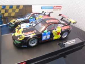 Carrera D124 23809 Porsche GT3 RSR Haribo Race Ready USED