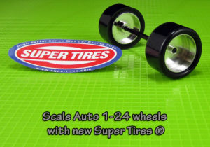 Super Tires ST4043 for Scaleauto wheels SC-4043. Silicone or Urethane.