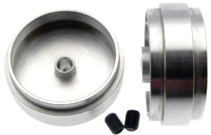 "Scaleauto SC-4042 ""Profile"" Design Slot Car wheel for 3mm Axle. M3 screws. solid"