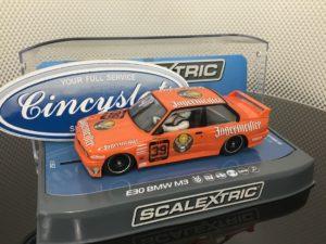 Scalextric C3899 1/32 Scale BMW E30 M3 1988 Mario Ketterer DTM DPR w/Lights