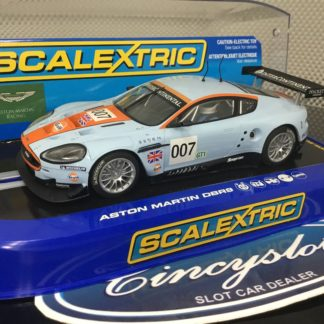 Scalextric C2960 Aston Martin Gulf DBR9 #007. Light use.