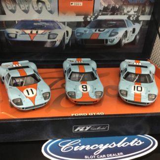 Fly 96016 Gulf Team 05 Ford GT40 3 Car Set.