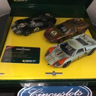 Scalextric C2529S Ford GT40 3 Car Podium Set, Le Mans.