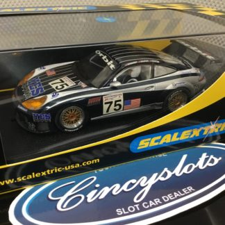 Scalextric C2480 Porsche 911 GT3R YES Network Yankees #75. Lightly Used, Looks New!!