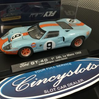 Fly A182 88070 Ford GT40 Gulf #9 Le Mans 1968. Lightly Used, Looks New!!