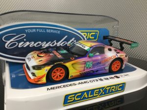 Scalextric C3941 Mercedes AMG GT3 #75 SunEnergy Racing 1/32 Slot Car.