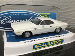 Scalextric C3935 White Dodge Challenger 1/32 Slot Car.