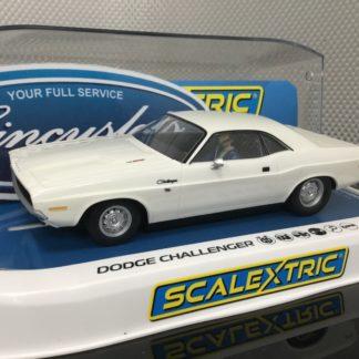 Scalextric C3935 White Dodge Challenger 1/32 Slot Car.