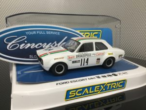 Scalextric C3924 Ford Escort MK1 Brands Hatch 1971 #114 1/32 Slot Car.