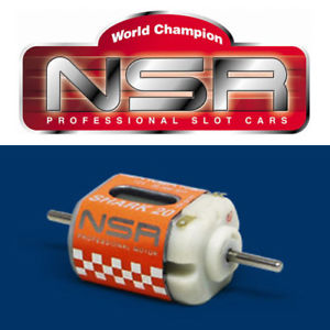 NSR 3004 Shark Motor 20k RPM@ 12V for 1/32 slot car.