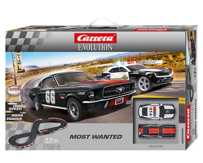 Carrera 25228 Most Wanted Evolution Slot Car Set.