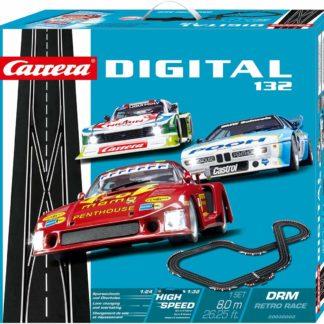 Carrera 30002 DRM Retro Race 1/32 Slot Car set.