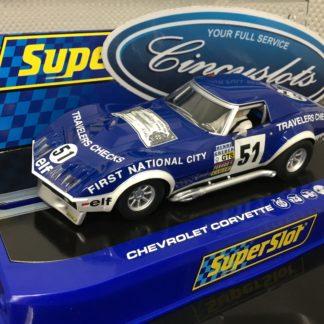 Scalextric H3654 Chevrolet Corvette L88 LeMans 1974, 1/32 Slot Car.