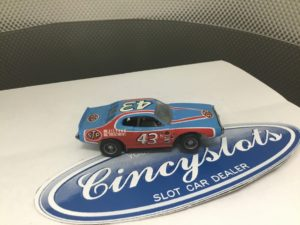 TYCO Richard Petty Charger #43 STP Grey Wheels HO Slot Car.  Looks New.