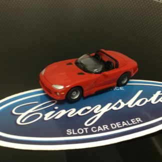 TYCO DODGE VIPER RED HO SLOT CAR, NEW.