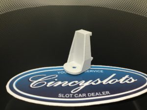 Custom 3D Printed Guardrail Clips for Carrera Slot Car Tracks.