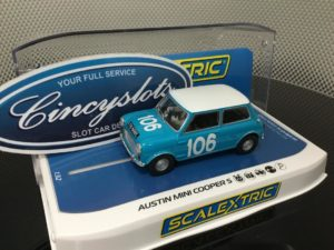 Scalextric C3913 Downton Mini Cooper 1962 Targa Florio 1/32 Slot Car.