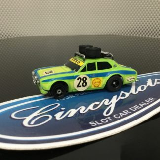 AFX FORD ESCORT #28 HO SLOT CAR, Used.