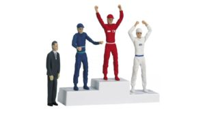 Carrera 21121 Winners Podium With Figures 1/32 scale.