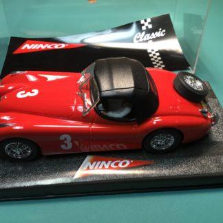 Ninco 50216 Jaguar XK-120 Red, 1/32 Slot Car.