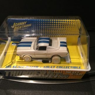 Thunderjet T-Jet 1965 1966 Ford Mustang White Lightning HO Slot Car.