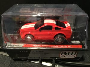 AutoWorld 2005 Mustang GT RED Super lll HO Slot Car.
