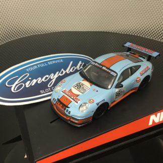 Ninco 50488 Porsche 997 Gulf 1/32 Slot Car. Lightly Used.