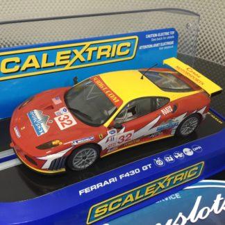 Scalextric C2902 Ferrari F430 GT2 Corsa Motorsports #2 1/32 Slot Car. Lightly Used.